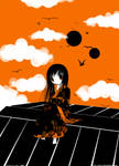 Enma Ai: black, white, orange by Ivy-Tears