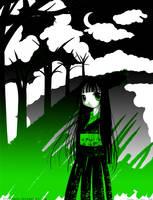 Enma Ai- black, white, green by Ivy-Tears