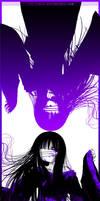 Enma Ai- black, white, violet by Ivy-Tears