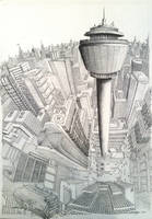 Cityscape perspective by tomholliday