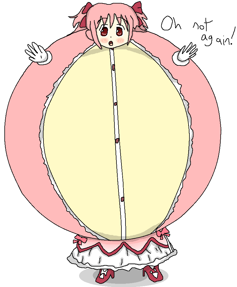 Something about Madoka inflated colorized by BittyHeart
