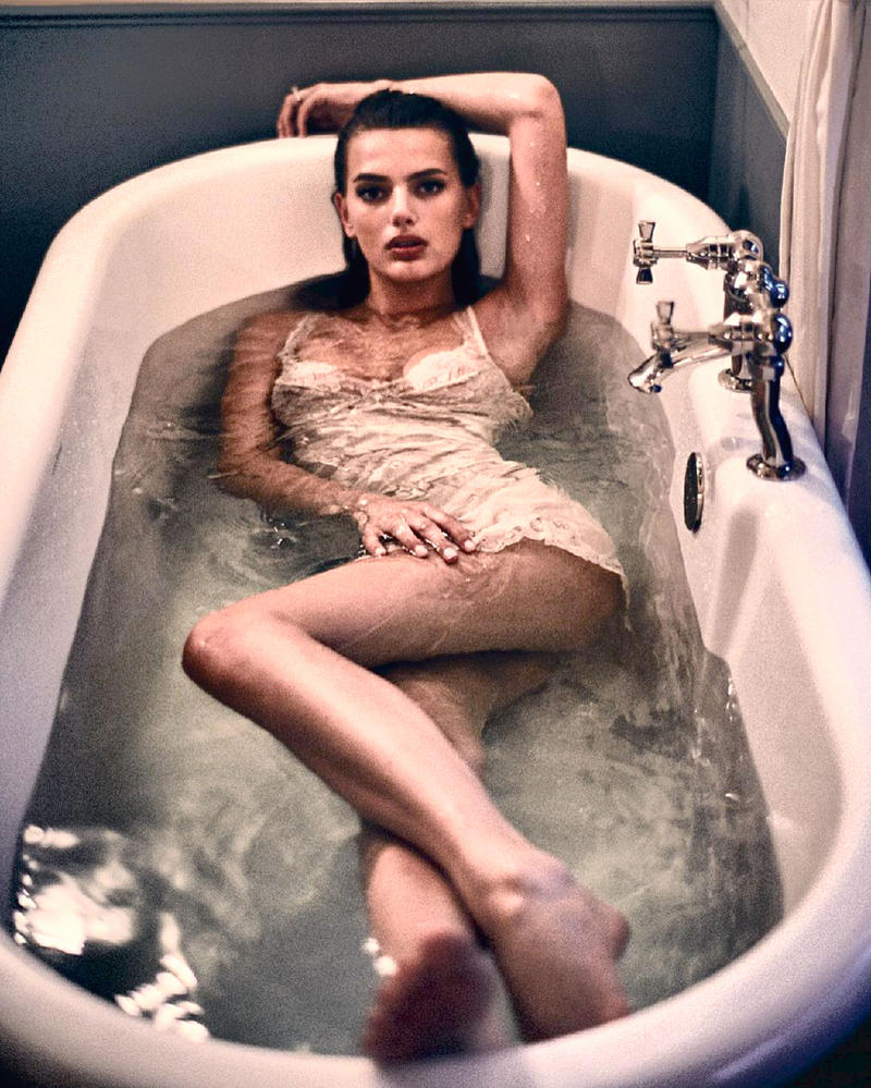 Girl In The Vintage Tub by pcurto