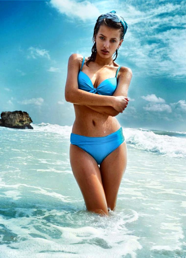 Bregje In Baby Blue Bikini by pcurto