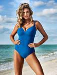 Blue-Eyed Blonde On The Beach