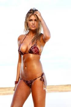 Kate In Wet Rusty Bikini