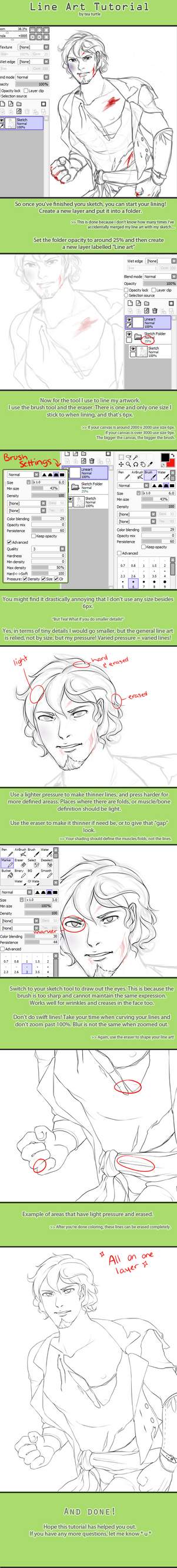 Line art Tutorial by tea-ram