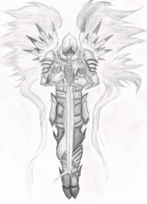 Diablo 3 tyrael sketch