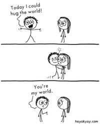 Hug the world