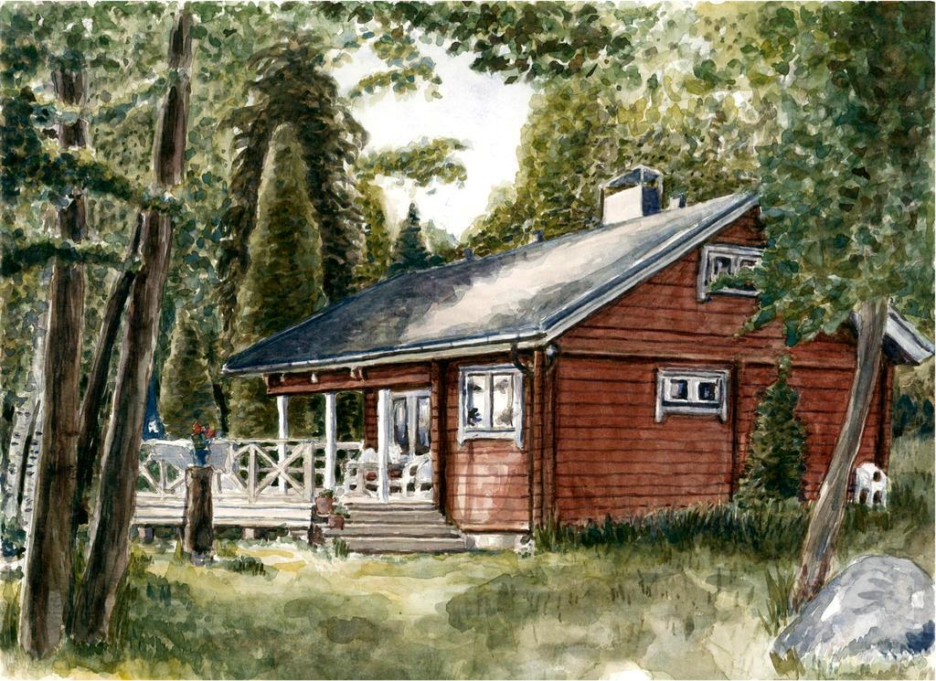 Finnish Cabin by keiross