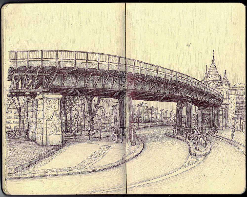 Sketchbook - Oberbaumbruecke by keiross