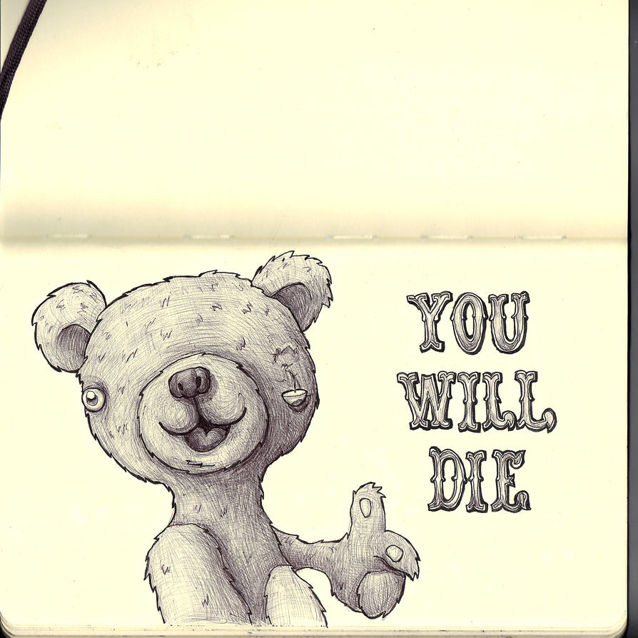 Sketchbook - Mr Teddy's motivational message by keiross
