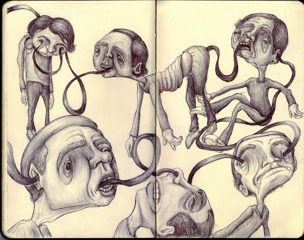 Sketchbook - Black Ribbon of Doom by keiross