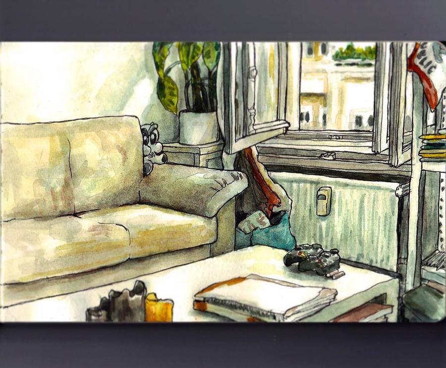 Sketchbook - my sofa by keiross