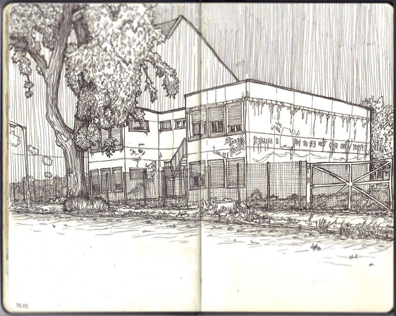 Sketchbook - Berlin street by keiross