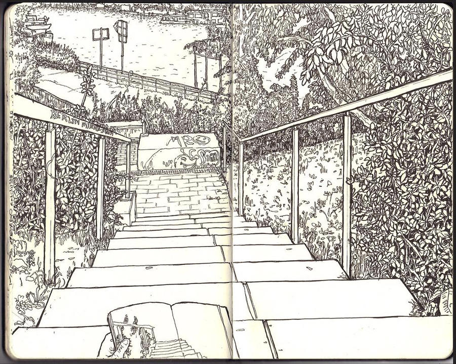 Sketchbook - More stairs by keiross