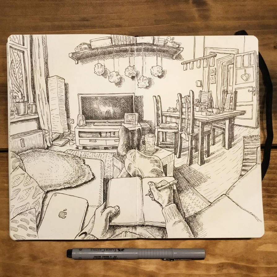 Sketchbook - living room