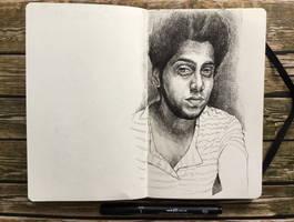 sketchbook - random tumblr portrait by keiross