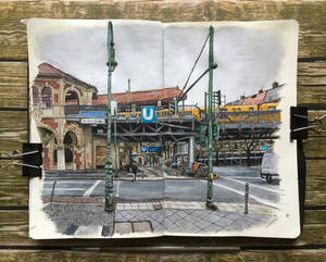 sketchbook - my local u-bahn station