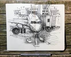 sketchbook - ride back to berlin