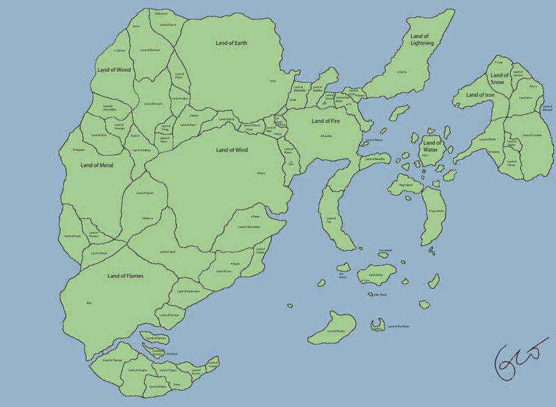 Naruto World Map by bloodyawsome on DeviantArt