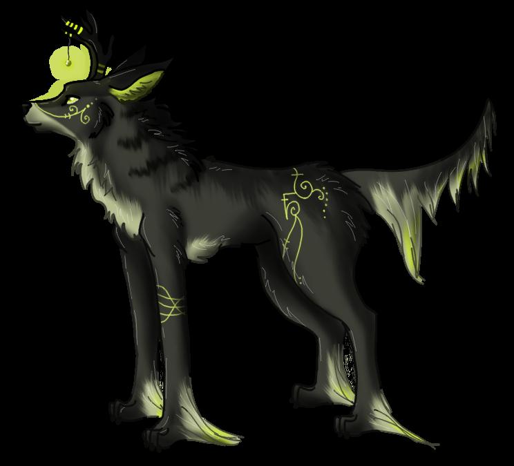 Forest spirit wolf by anouki morgenstern on deviantart for Jenni wolf