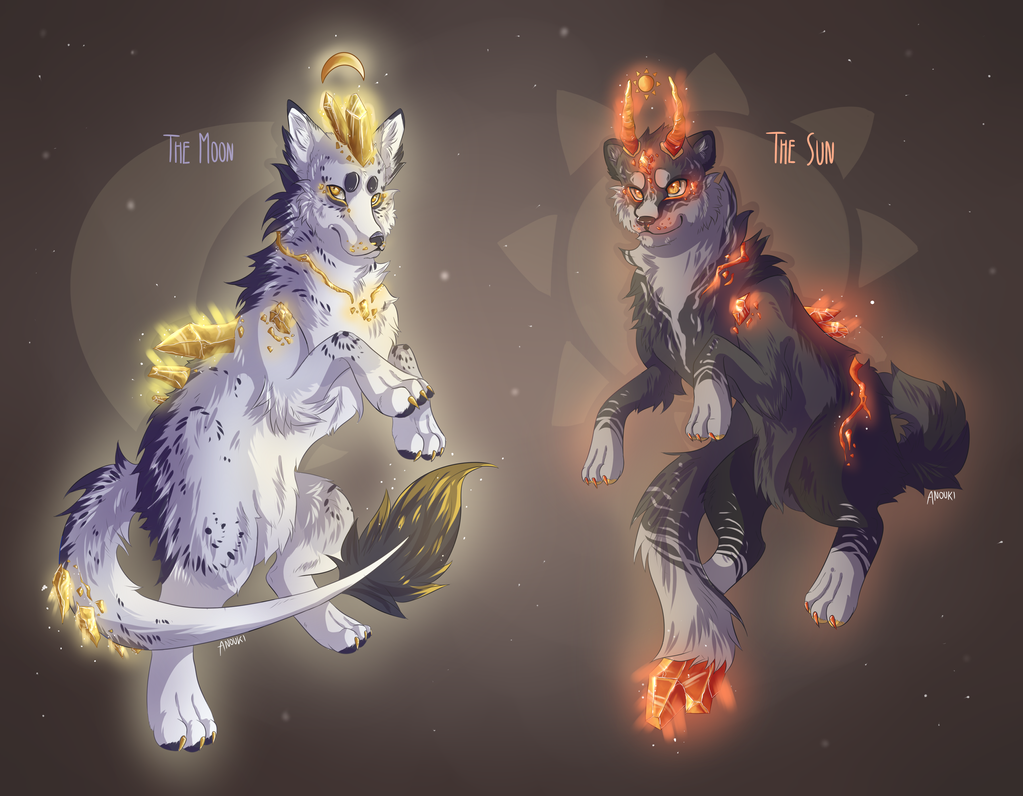 Auction: Moon and Sun Crystal Adopatables - open by anouki-morgenstern