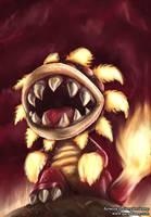 Fiery Dino Piranha - SMG by GaryStorkamp