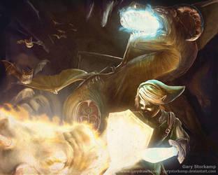 Battle with the Gleeok - LoZ by GaryStorkamp