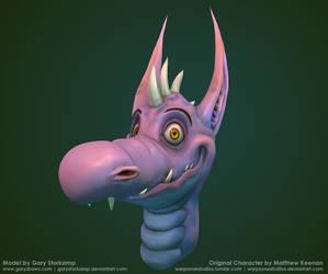 A Happy Dragon 3D by GaryStorkamp