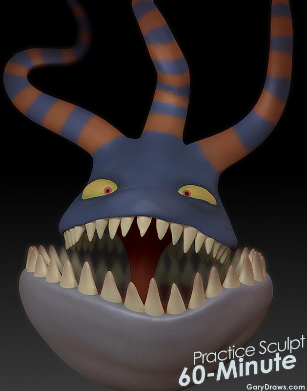 Harlequin Demon - 60-Minute Practice Sculpt by GaryStorkamp on ...