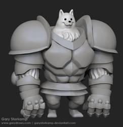 Greater Dog - 3D Doodle by GaryStorkamp