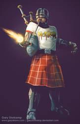 Rowdy Roddy Robocop by GaryStorkamp