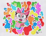 Colorful Unicorn Kitty by TheAngelux22