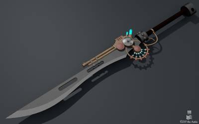 Steampunk Jetgun Sword