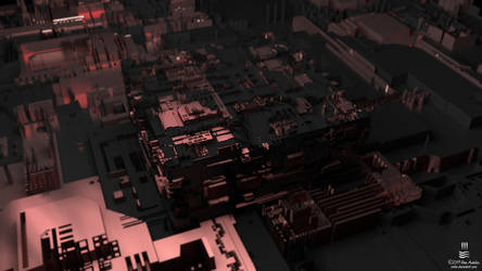 Wallpaper - Circuit City with Depth of Field