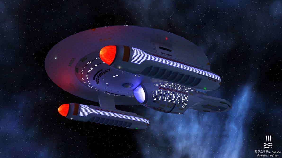 U.S.S. Pegasus - Waitomo-class (Ambassador Kitbash
