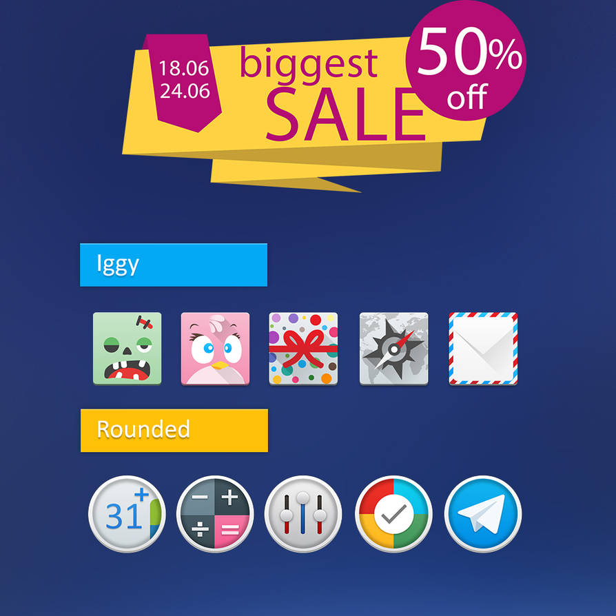 Iggy and Rouned Icon Pack for Android by tari7