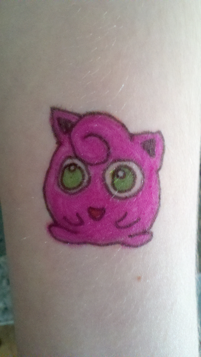 Jigglypuff Sharpie Tattoo by ~Megido23 on deviantART