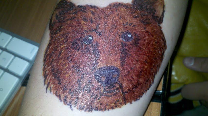 Traditional bear head tattoo - photo#23