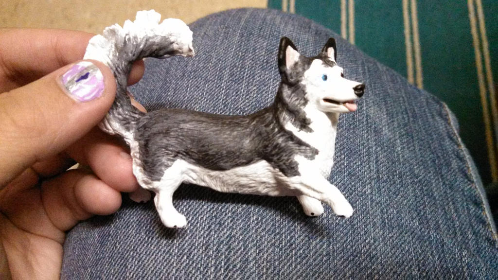 Breyer Corgi Husky Mix Custom by Megido23