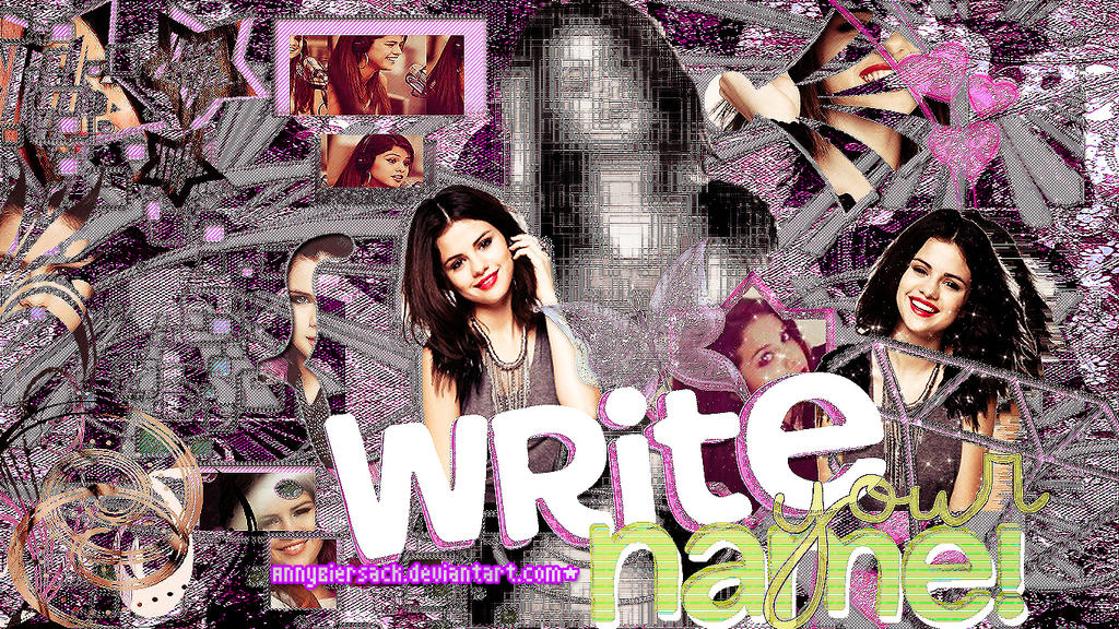 Write my name on wallpaper
