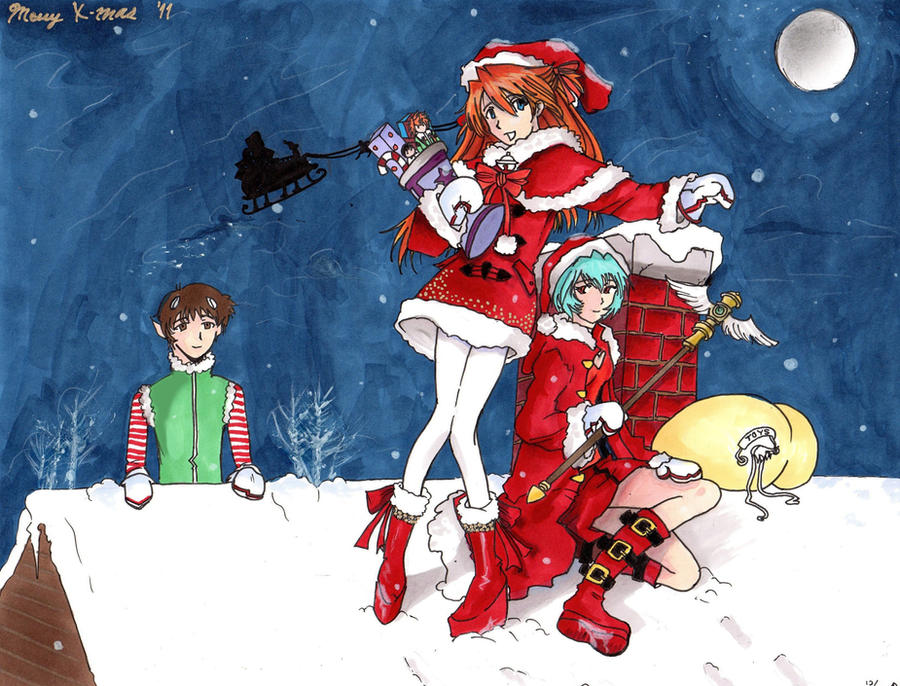 An Evangelion Christmas by JTrudy808 on DeviantArt