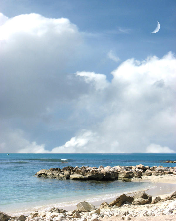 Labadee Stock Rock-Ocean by SimplyBackgrounds