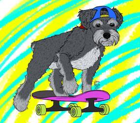 Skating Dawg