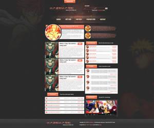 Kazekage.cz  Anime webdesign by reedgfx