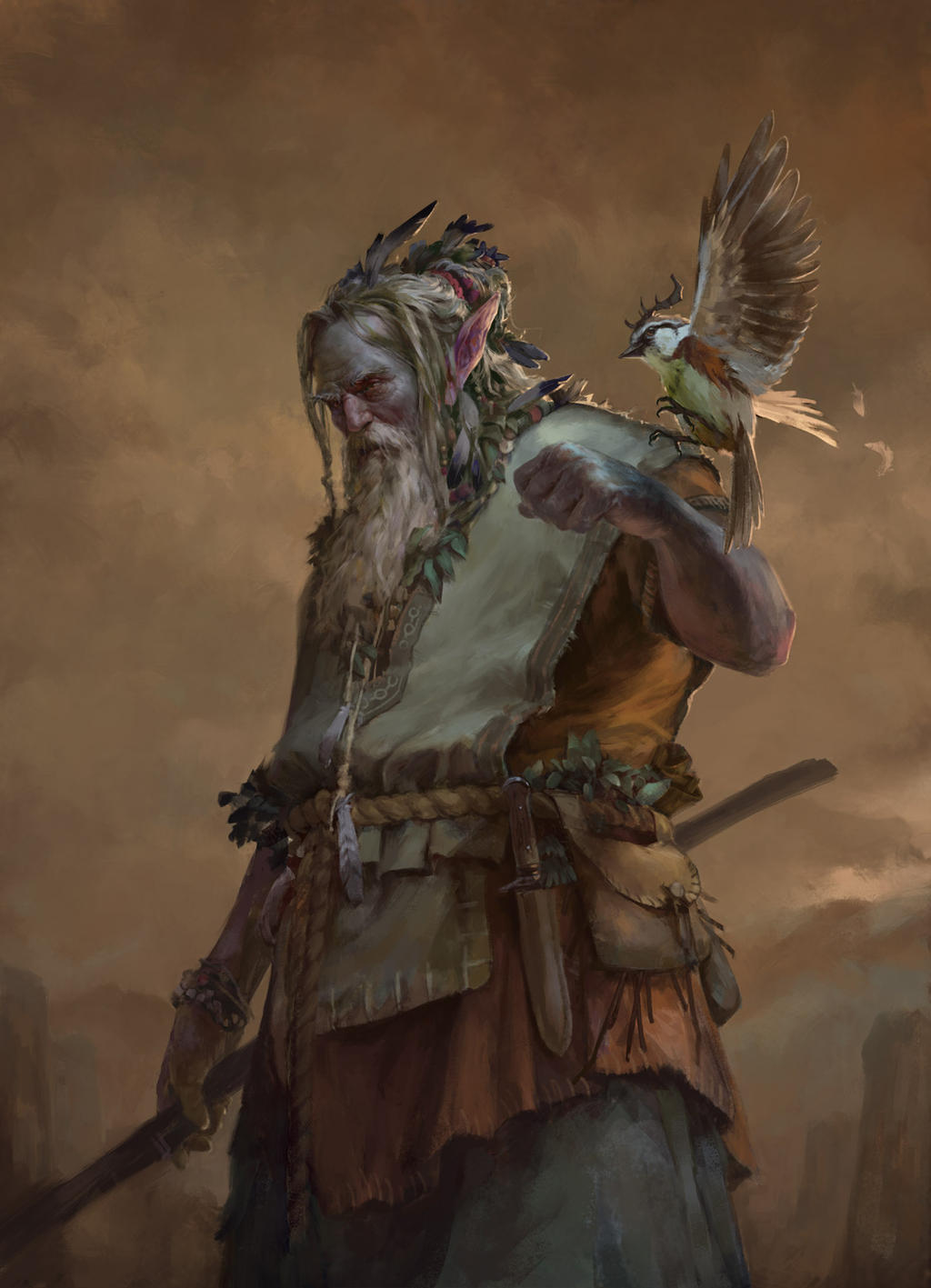 Ilustraciones sueltas chulas encontradas por el internete - Página 4 Druid_by_dusint-daehxm2