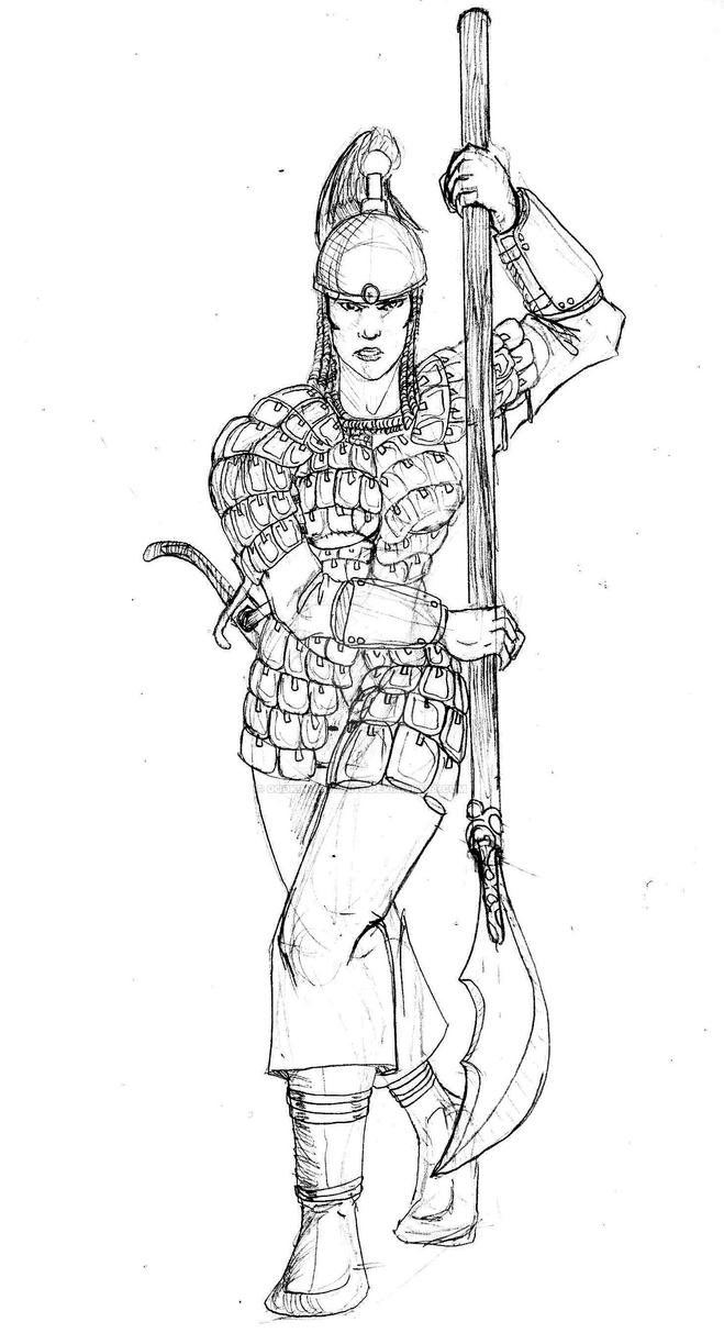 Mongolian Warrior Women by GodKingNothing
