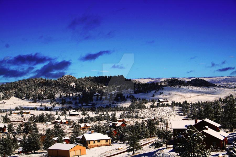 Snowfallen Range by chromosphere