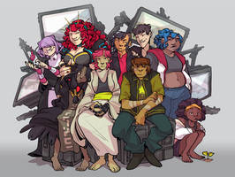 group shot by corviday