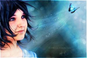 Blue butterfly by selfOblivion